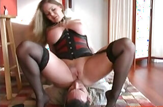 PAWG Facesits and Plays with Slave, Free Porn rough