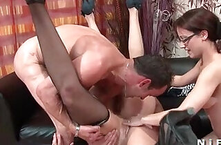 FFFM Three french slut gets fucked hard anal fucked and fisted