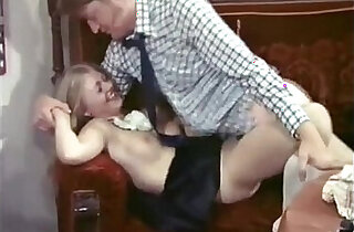 Lucky dude fucked by super hot blonde maid Anna Magle in vintage porn