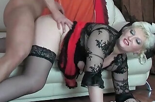 Blonde MILF gets pussy fucked many