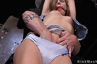 Blonde got pussy and nipples tormented