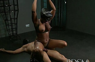 BDSM XXX Caged slave gets hardcore from his powerful and horny Mistress