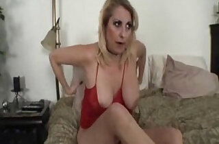 Step mom gets fingered and fucked by her step son