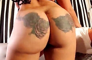 sexy chick with tattoos on her ass making it clap Mirage aka