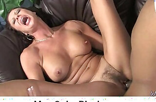 Interracial cougar porn from Watching My Mom Go Black 30