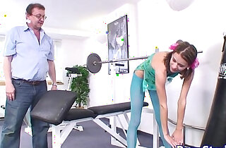 Smalltitted eurobabe fucked by old dude