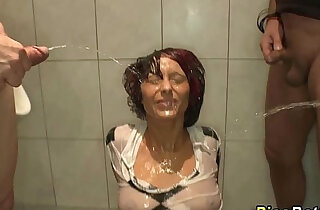 Mouth used as a urinal