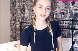 19 Year Old Teen girl Shows Her Perfect natural Tits On Webcam
