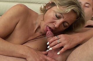 A Mature Napping Beauty In Stockings gets Fucked By Stepson