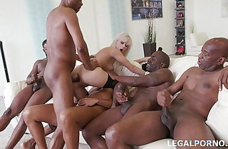 Tiny babe Ria Sun gets black monster cock Double penetration