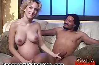 Blonde pregnant whore Ruth Blackwell loves black huge cock