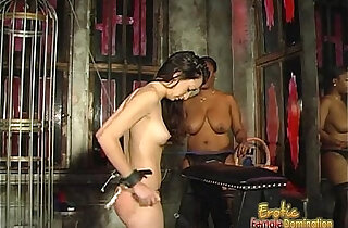Voluptuous black chick loves spanking her white ex girlfriend fucked hard