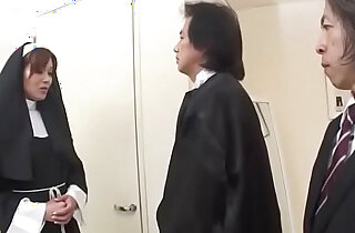 First time anal experience for Japan nun, Hitomi Kanou