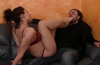 The Puppet Of Elisa Footjob and Worship