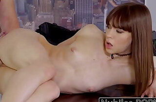 Nubilesporn tiny tit slut gets shaved pussy and fucked raw