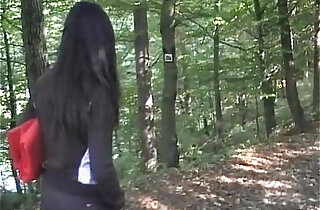 Video amateur teen with naughty girl loves sucking fucking outdoor